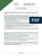 Ficha de Trabalho F5 -Leis Da Termodinâmica