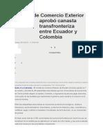 Comité de Comercio Exterior Aprobó Canasta Transfronteriza Entre Ecuador y Colombia (Autoguardado)