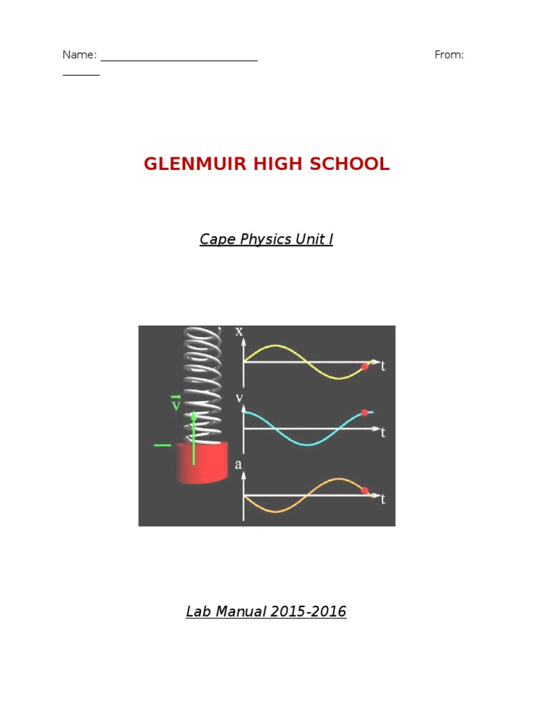 6b lab manual 2015 resonance pendulum rh scribd com Physics Lab Experiments Manual Physics Laboratory Manual Loyd Measurement