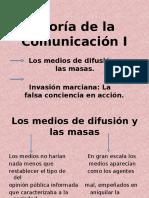 Teoría de La Comunicación I.