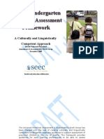 Seattle Kindergarten Readiness Assessment Framework