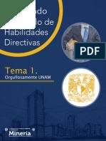 Tema 1 del diplomado de desarrollo de habilidades directivas