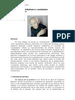 Globalización - Tribalismo o Ciudadanía. C. Ambrosini