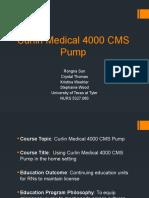team 5 curlin medical 4000 cms pump