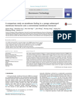 A Comparison Study on Membrane Fouling in a Sponge-submerged Membrane Bioreactor and a Conventional Membrane Bioreactor