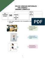 Evaluación Ciencias Naturales. Unidad 1 (Parte 2) Mi Cuerpo