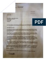 Letter To Chief And Council Regarding Forensic Audit