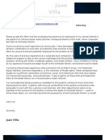 Juan F Villa for Schneider Electric Cover Letter