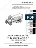 International Harvester Corp. MODEL F-5070 Dump Truck Maintenance Manual TM-5-3805-254-10