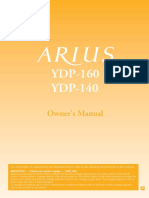 Yahama Arius YDP-140 Piano Manual