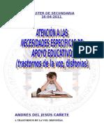 Trabajo Atención a Las Necesidades Específicas de Apoyo Educativo