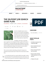 The 20-Point Job Search Game Plan2