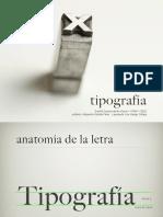 anatomía letra y tipo móvil