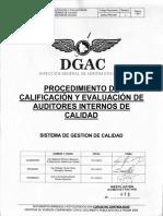 Dgac-pro-006 Rev 2 Proc Calif Eval Auditores Internos Calidad