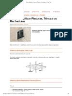 Como Identificar Fissuras, Trincas Ou Rachaduras - FazFácil