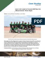 Validation of Suspension Link Loads for Formula SAE Race Car