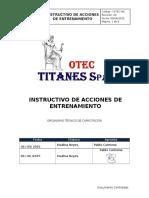 7.1 I-OTEC-IAE Instructivo de Ejecución de Acciones de Entrenamientos