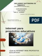 Internet Para Propósitos Educativos Com. Virtu