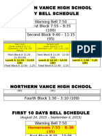 nvhs bell schedule - daily  hr revised
