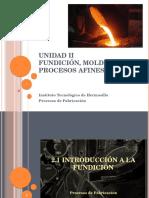 Unidad II. Procesos de Manufactura
