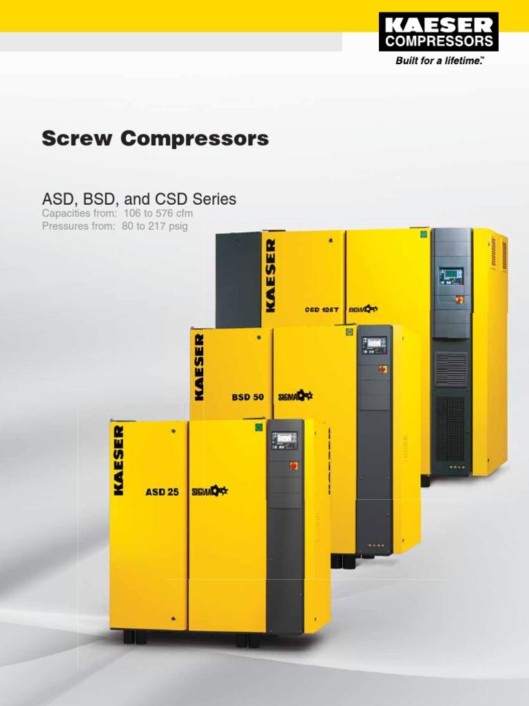 Kaeser Screw Compressors ASD, BSD, CSD Series | Gas Compressor | Clothes  Dryer