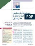 Analisis de La NIC 10 (Texto de 1999)