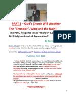 PART 2- Refuting Thunder Lauriston's Hardtalk Charges (2016)