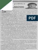 Hacer política, Juan Carlos Valdivia Cano