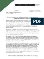 Nota de Prensa Oficial Del FMI 6 Abril 2010