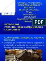 Estatica Dinamica 2015-i Semana 11 Componentes Tangencial y Normal