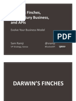 Darwin's Finches, 20th Century Business, and Open APIs Evolve Your Business Model