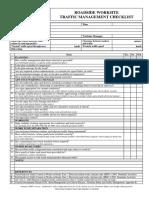 Vwa Traffic Mgt Checklist