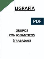 Caligrafía Grupos Consonánticos (Trabadas)