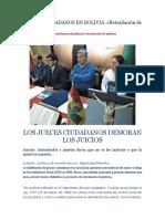 Jueces Ciudadanos en Bolivia