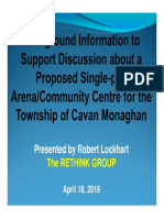 Rethink Group's Rob Lockhart's presentation on the proposed new Cavan Monaghan Township community centre