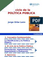 Ciclo políticas públicas