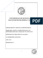 Sujeto y Subjetividad en Las Epistemologías de G. Deleuze y M. Foucault