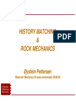 History Matching and Rock Mechanics 20 Years
