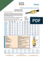 ETSCC PX2K Brass Gland Data Sheet