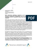 Denuncio Penal Juan Manuel Santos Calderon Abril 2016 1