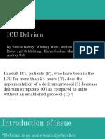 icu delirium group imporvement project