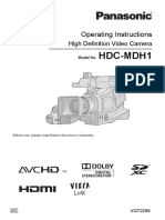 Panasonic HDC-MDH1 Manual