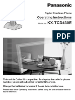 Panasonic KXTCD430ALW Manual