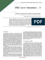 Parametric NURBS Curve Interpolators a Review