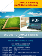 ECO 203 TUTORIALS Learn by Doing - Eco203tutorials.com