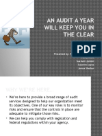 An Audit a Year, Keeps You in the Clear