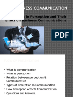 Presentation on Business Communication