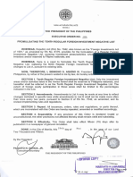 Executive Order No. 184 Negative List