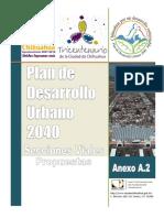 PDU2040-Anexo A2, Secciones Viales