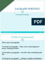 NOTES Paragraph Writing
